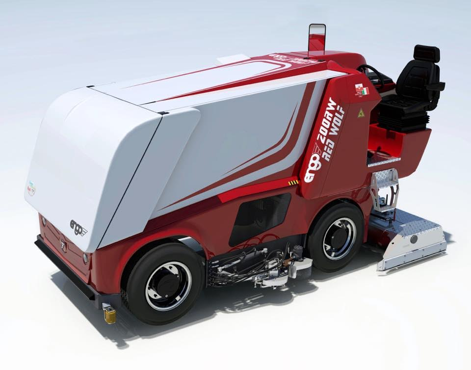 Machines for high-performance sports ice rinks